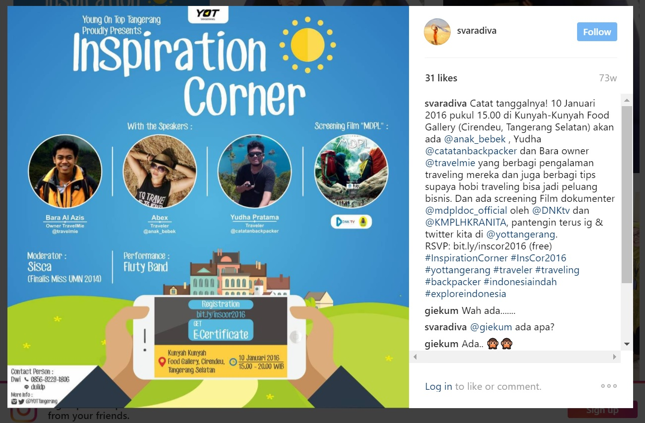 inspiration corner yot tangerang